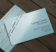 350gsm Pimlico Damask Blue Business Cards