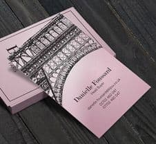 350gsm Pimlico Petal Pink Business Cards