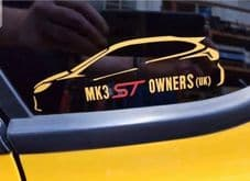 Mk3 ST/RS Owners (UK) Sticker (PAIR)