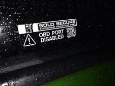 OBD PORT DISABLED Sticker (Pair)