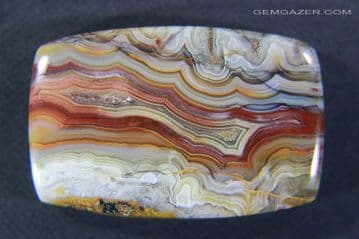 African Lace Agate cabochon, 44.64 carats.