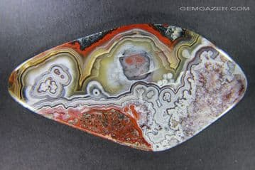African Lace Agate cabochon,  64.02 carats.