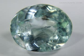 Amblygonite, green faceted, Brazil. 2.58 carats.