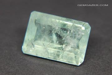 Amblygonite, green faceted, Brazil. 6.24 carats.