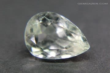 Amblygonite, pale yellow faceted, Brazil. 1.79 carats.