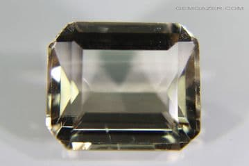 Amblygonite, smoky yellow-brown, faceted, Brazil.  7.54 carats.