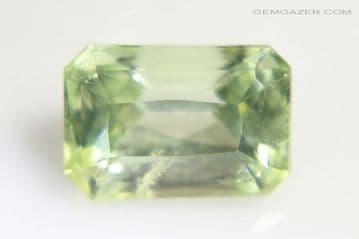 Amblygonite, yellow-green faceted, Brazil. 2.31 carats.