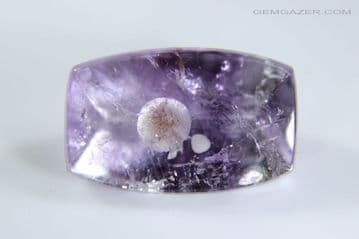 Amethyst with Cristobalite inclusion, faceted, Brazil. 2.35 carats.