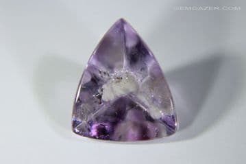 Amethyst with Cristobalite inclusion, faceted, Brazil. 3.92 carats.