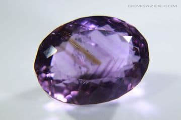 Amethyst with 'Tiger-Stripe' colour zoning, faceted, Brazil. 9.98 carats. ** SOLD **