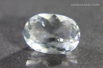 Analcime (Analcite), colourless faceted, Pakistan.  1.03 carats.  ** SOLD **