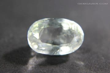 Analcime (Analcite), colourless faceted, Pakistan. 1.75 carats.
