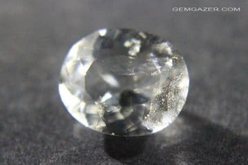 Analcime (Analcite), colourless faceted, Pakistan. 1.86 carats.  ** SOLD **