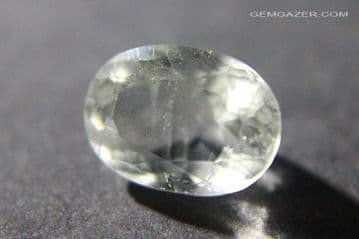 Analcime (Analcite), colourless faceted, Pakistan.  1.98 carats.