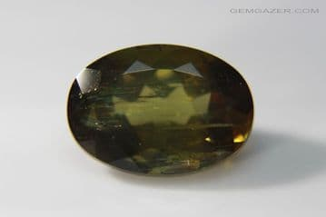 Andalusite, faceted, Brazil. 6.61 carats. (Video)