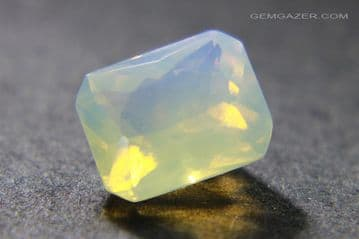 Andamooka Crystal Opal with blue sheen, faceted, Australia. 3.24 carats.