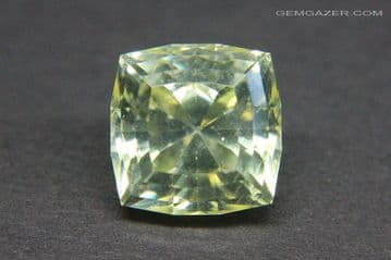 Anglesite, yellow faceted, Namibia. 7.97 carats.