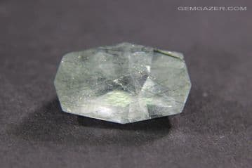 Apatite, colourless with green Actinolite inclusions, Pakistan. 4.24 carats.