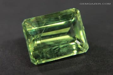 Apatite, green faceted, Brazil.  7.36 carats.
