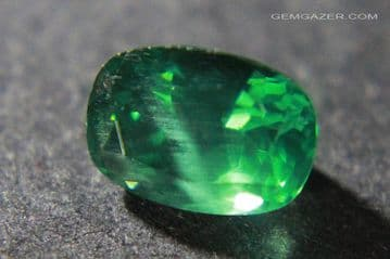 Apatite, green faceted, Madagascar.  1.72 carats.