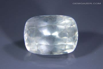 Apatite, smoky bluish-grey, faceted. Brazil. 4.25 carats.