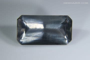 Apatite, smoky grey-blue, faceted. Brazil. 4.13 carats.  (See Video)  **SOLD**