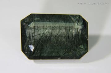 Apatite with Actinolite inclusions, faceted, Brazil. 6.48 carats.  ** SOLD **