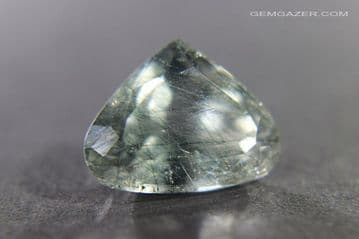 Apatite with Actinolite inclusions, faceted, Brazil.   7.77 carats.