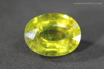 Apatite, yellow-green faceted, Madagascar.  5.98 carats.
