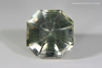 Apatite, yellow-green, faceted, Pakistan. 3.88 carats.