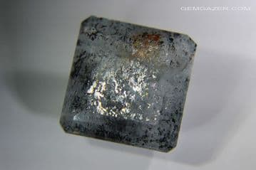 Aquamarine Sunstone with schiller effect, faceted, Brazil. 17.61 carats (See Video ). ** SOLD **