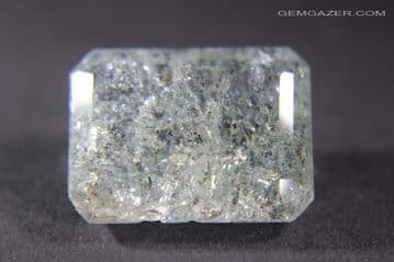 Aquamarine with Goethite inclusions, faceted, Brazil. 12.76  carats.