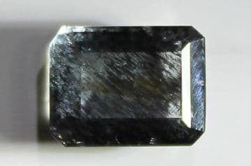 Aquamarine with Hematite and Goethite inclusions, faceted, Brazil, 3.06 carats.