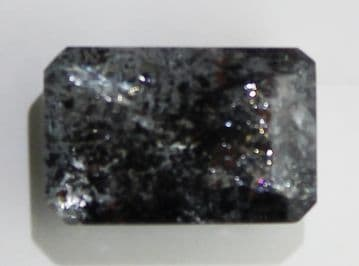Aquamarine with Hematite and Goethite inclusions, faceted, Brazil, 3.63 carats. ** SOLD **