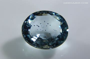 Aquamarine with Hematite, faceted, Brazil. 2.16 carats. ** SOLD **