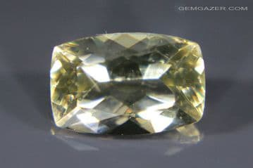 Aragonite, yellow faceted, Czech Republic. 2.98 carats.