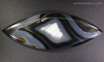 Banded Agate cabochon with water lines, Turkey.  93.84 carats.