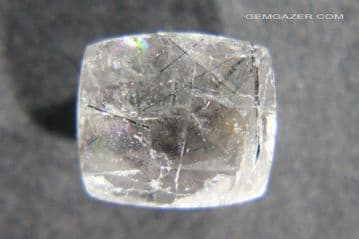 Barite / Baryte with Magnesio-Arfedsonite inclusions, faceted, Macedonia.  3.72 carats.