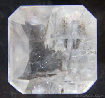 Barite, colourless faceted, China.  8.95 carats.