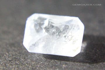 Barite, pale blue faceted, China.  2.26 carats.