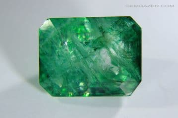 Beryl, colour-treated, faceted, Colombia. 5.71 carats.