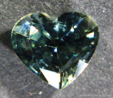 Bi-colour blue and green Sapphire, faceted, Australia. 1.12 carats.