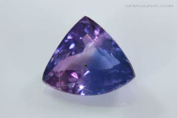 Bi-colour blue and pink Sapphire, faceted, Madagascar. 1.31 carats.