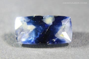 Bi-colour Sapphire, faceted, Afghanistan. 1.63 carats.  ** SOLD **