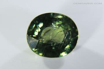 Bi-colour yellow and blue  Sapphire, faceted, Tanzania. 3.13 carats.
