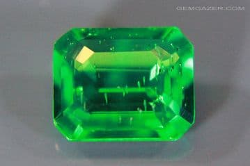 Biron synthetic Emerald, faceted. 2.63 carats.  ** SOLD **