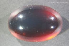 Blue Amber cabochon, Indonesia. 21.58 carats.  ** SOLD **