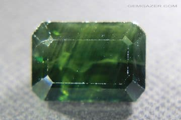 Blue-green Sapphire, faceted, Australia. 5.50 carats.