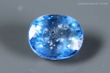 Blue Sapphire, faceted, Madagascar. 1.05 carats.