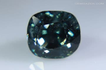 Blue Spinel, faceted, Myanmar. 1.62 carats.  (See Video)